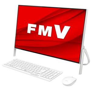 FMVF70E1W 富士通 FMV ESPRIMO FH70/E1 - 23.8型デスクトップパソコン [Core i7 / メモリ 8GB / SSD 512GB / DVDドライブ / Microsoft Office 2019]