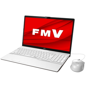 FMVA42E1W1 富士通 FMV LIFEBOOK AH42/E1(プレミアムホワイト)- 15.6型ノートパソコン [AMD Athlon Gold / メモリ 4GB / SSD 256GB / DVDドライブ]Microsoft Office Home & Business 2019
