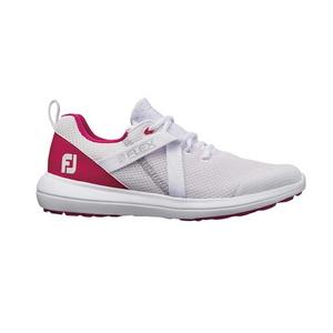 95726W24 フットジョイ レディース・スパイクレス・ゴルフシューズ (ホワイト/ピンク・サイズ:24cm) footjoy ウィメンズ FJ フレックス