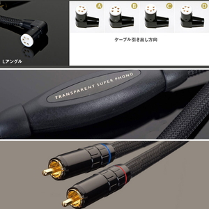 SPH1.5DIN-L(1.5M) トランスペアレント フォノケーブル【DIN(L型プラグ)⇒RCA】(1.5m) TRANSPARENT《Super Phono Cable》