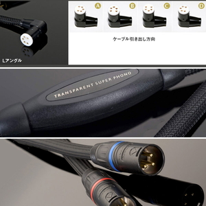 SPH1DIN(L)-XLR1.0M トランスペアレント フォノケーブル【DIN(L型プラグ)⇒XLR】(1.0m) TRANSPARENT《Super Phono Cable》
