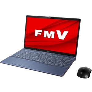 FMVA77E2L 富士通 FMV LIFEBOOK AH77/E2 メタリックブルー - 15.6型ノートパソコン [Core i7 / メモリ 8GB / SSD 1TB / BDドライブ]Microsoft Office Home & Business 2019