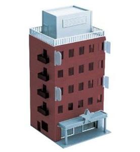 激安格安割引情報満載 鉄道模型 グリーンマックス Nゲージ 2607 ビジネスビル 格安店 ブラウン 着色済み 基本5階建