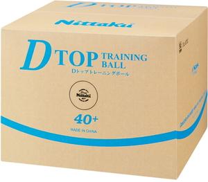 NT-NB1521 ニッタク 卓球ボール 硬式40ミリ 練習球(白)50ダース(600個入り) Nittaku Dトップトレ球