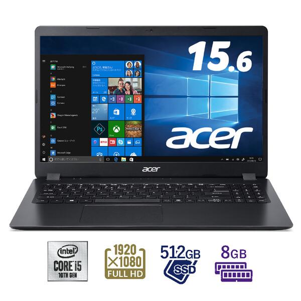 A315-56-N58Y/K Acer(エイサー) 15.6型ノートパソコン Aspire 3 シェールブラック (Core i5/8GB/512GB)