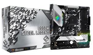 B550M STEEL LEGEND ASRock Micro ATX対応マザーボードB550M STEEL LEGEND