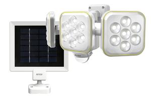 S-90L ムサシ ソーラー式LEDセンサーライト (5W×3灯) RITEX [S90L]