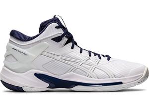 1063A015-103-24.5 アシックス バスケットボールシューズ(ホワイト/ピーコート・サイズ:24.5cm) asics GELBURST 24 ユニセックス