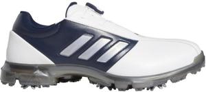 CEZ98-F35397-250 アディダス メンズ・ゴルフシューズ(ホワイト/ダークシルバーメタリック/カレジエイトネイビー・サイズ:25.0cm) adidas アルファフレックス ボア