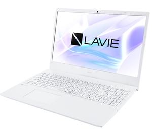 PC-N1510AAW NEC LAVIE N15 N1510/AAW(パールホワイト)- 15.6型ノートパソコン (Athlon/4GB/500GB)Microsoft Office Home & Business 2019