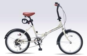 M-209OS-IV マイパラス 折りたたみ自転車 20インチ(アイボリー) MYPALLAS