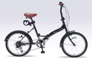 M-209OS-BK マイパラス 折りたたみ自転車 20インチ(ブラックパール) MYPALLAS