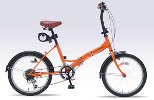 M-209OS-OR マイパラス 折りたたみ自転車 20インチ(オレンジ) MYPALLAS