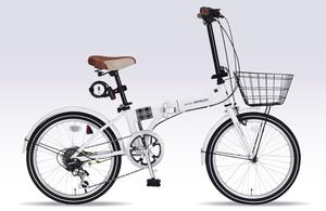 MF-206F-W マイパラス 折りたたみ自転車 20インチ(ホワイト) MYPALLAS NOEL