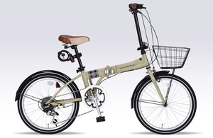 MF-206F-CA マイパラス 折りたたみ自転車 20インチ(カフェ) MYPALLAS NOEL
