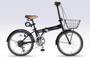 MF-206F-BK マイパラス 折りたたみ自転車 20インチ(ブラック) MYPALLAS NOEL