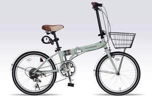 MF-206F-KH マイパラス 折りたたみ自転車 20インチ(カーキ) MYPALLAS NOEL