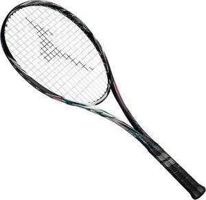 63JTN8566400X ミズノ ソフトテニスラケット スカッド05-C(ハイブリッドブラック×ネオンマゼンタ・サイズ:00X・ガット未張上) mizuno