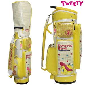 LTCM005-CB ルーニー・テューンズ キャディバッグ(ホワイト・8.5型・46インチクラブ対応) LOONEY TUNES TWEETY CADDIE BAG