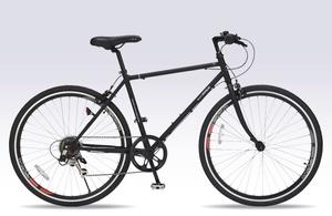 M-605-BK マイパラス クロスバイク 26インチ(マットブラック) MYPALLAS 自転車