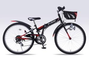 M-824F-BK マイパラス 子ども用自転車 MTB 24インチ(ブラック) MYPALLAS