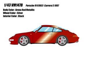 1/43 ポルシェ 911(993) カレラ S 1997(アレナレッドメタリック)【VM147B】 メイクアップ