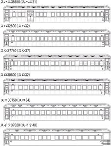 [鉄道模型]MAXモデル (HO) WRP-901 限定 特別急行 燕 9輌編成セット 改 (未塗装組立キット)