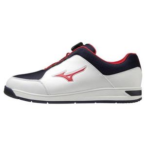 【返品送料無料】 51GQ207014260 ミズノ スパイクレス・ゴルフシューズ(ホワイト×ネイビー×レッド・26.0cm) mizuno ワイドスタイルスパイクレスボア メンズ, Sports Shoes SelectSHOP Booshop e3e89d78