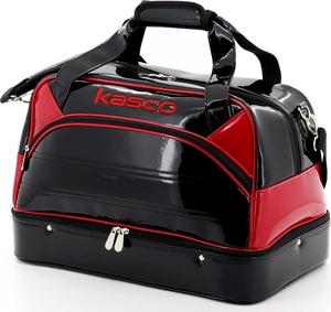メーカー公式ショップ KST-141W-BK RD キャスコ ボストンバッグ ブラック 使い勝手の良い レッド Kasco