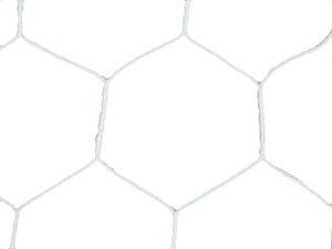 B3772 トーエイライト ジュニアサッカーゴールネット 市販 白 亀甲目 2張1組 TOEI 着後レビューで 送料無料 LIGHT