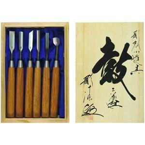 95316 河清刃物 彫刻小道具 6本組 「鼓」