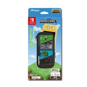 Switch Nintendo Lite専用スマートポーチEVA マインクラフト スマートポーチマインクラフト マックスゲームズ 送料無料(一部地域を除く) HROP-02MC4 限定モデル 4キャラクター