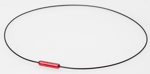 0217TG730051 ファイテン RAKUWAネック ワイヤーAir(ブラック/レッド)[サイズ:40cm] Phiten