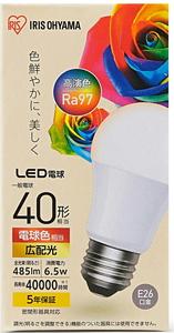LDA7L-G-4T5HR いつでも送料無料 アイリスオーヤマ LED電球 大規模セール 一般電球形 485lm IRIS LDA7LG4T5HR 電球色相当