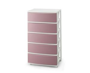 CLN-545ピンク ホワイト 正規激安 アイリスオーヤマ ワイドチェスト IRIS CLN545ピンクホワイト お中元 ピンク 5段