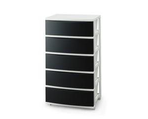 CLN-545ブラツク 正規販売店 ホワイト アイリスオーヤマ ワイドチェスト 5段 IRIS CLN545ブラツクホワイト 2020 ブラック