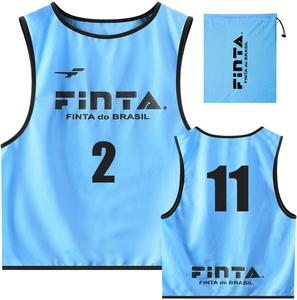 FNT-FT6513-2200-F FINTA フィンタ サッカー いつでも送料無料 フットサル用 サックス サイズ:フリー 即出荷 10枚入り ユニセックス ビブス