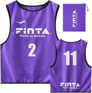 FNT-FT6513-8100-F FINTA 購入 フィンタ サッカー 日本限定 フットサル用 10枚入り ユニセックス パープル ビブス サイズ:フリー