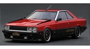 1 43 Nissan Skyline 2000 RS-Turbo R30 卓抜 ignitionモデル Black Red ☆送料無料☆ 当日発送可能 IG2327