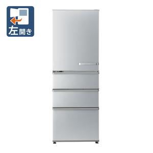 _ (標準設置料込)AQR-36KL-S アクア 355L 4ドア冷蔵庫(ブライトシルバー)【左開き】 AQUA [AQR36KLS]