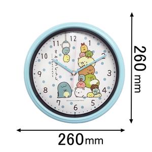 WC19023SXSG アリアス 着後レビューで 送料無料 掛け時計 すみっコぐらし26cmウォールクロック 注目ブランド 返品種別A