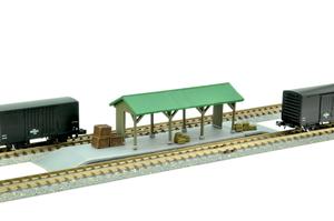 鉄道模型 トミーテック 中古 N 建物コレクション022-4 貨物用~ ~低いホーム 荷物 大特価!! 駅C4
