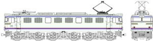 鉄道模型 トラムウェイ セール HO 国鉄EF60第2次量産型やすらぎ色 新品 TW-EF60-F010A