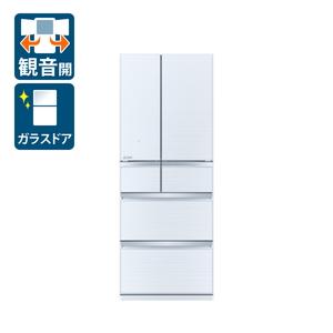 _ (標準設置料込)冷蔵庫 三菱 大型 MR-WX47LG-W 三菱 470L 6ドア冷蔵庫(クリスタルホワイト) MITSUBISHI WXシリーズ [MRWX47LGW]