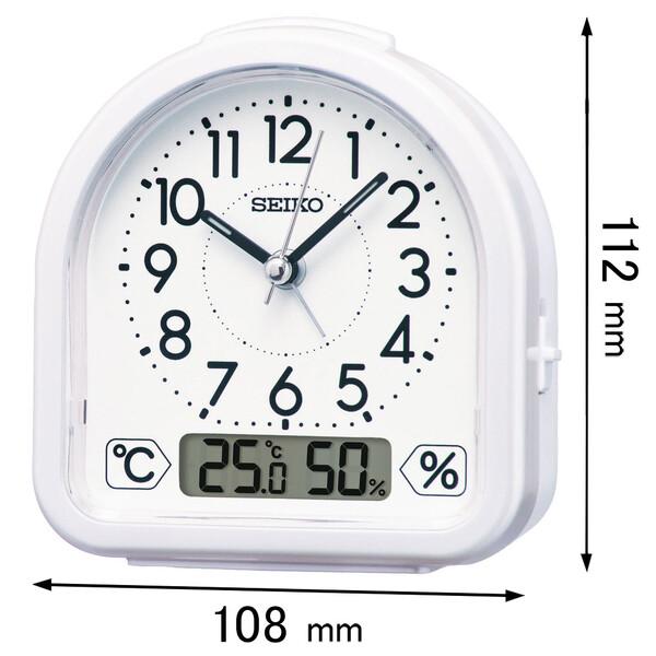 KR-512-W セイコータイムクリエーション 目覚まし時計 SEIKO レビューを書けば送料当店負担 KR512W 返品種別A 温度湿度表示つき目ざまし時計 !超美品再入荷品質至上!