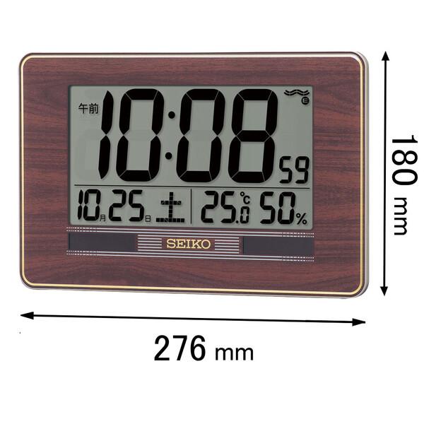 SQ-446-B 定番の人気シリーズPOINT(ポイント)入荷 セイコータイムクリエーション 置き掛け兼用時計 お買い得品 SEIKO ハイブリッドソーラーデジタル電波掛け時計 SQ446B 返品種別A