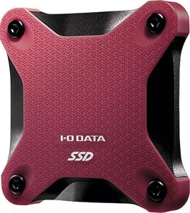 SSPH-UA500RB I 値引き タイムセール Oデータ USB 3.2 Gen 1 3.0 2.0対応ポータブルSSD PS5 Edition Digital PS4 動作確認済 500GB PRO ワインレッド