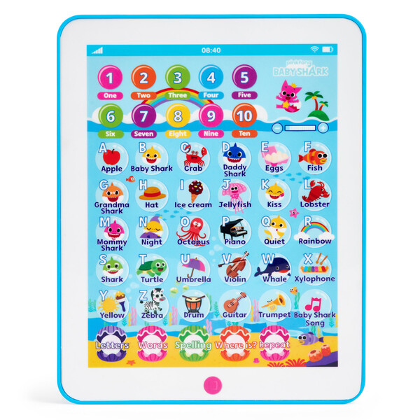 BABY SHARK Tablet 毎日がバーゲンセール アガツマ 購買 タブレットでABC