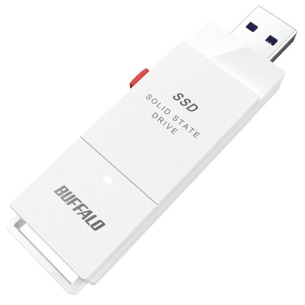 アウトレットセール 特集 SSD-SCT500U3-WA バッファロー USB 3.2 Gen 2 業界No.1 1 対応 PS4 PS5 500GB 外付けポータブルSSD 動作確認済 PRO ホワイト
