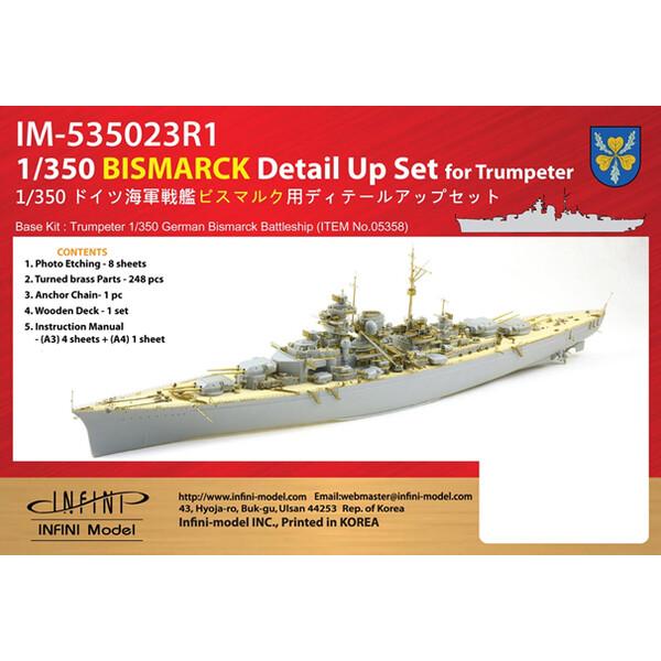 1 350 35%OFF ドイツ海軍 戦艦 ビスマルク用 [並行輸入品] ディテールアップパーツ IM53523 ピットロード TR社用 ディテールアップパーツセット